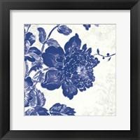 Framed Toile Roses IV