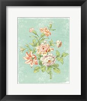 Framed Cottage Roses IX Bright