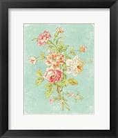Framed Cottage Roses VIII Bright