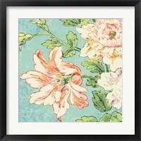 Framed Cottage Roses VII Bright