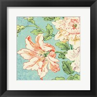 Framed Cottage Roses VII Bright