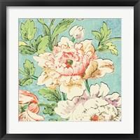 Framed Cottage Roses VI Bright