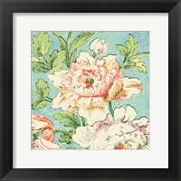 Framed Cottage Roses VI Bright