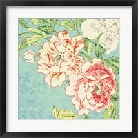 Framed Cottage Roses V Bright