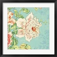 Framed Cottage Roses IV Bright
