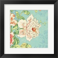 Framed Cottage Roses IV Bright