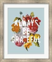 Framed Floral Sentiment I Crop