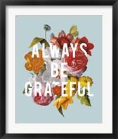 Floral Sentiment I Crop Framed Print