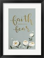 Framed Faith Fear Flowers