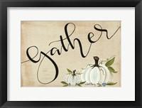 Framed Gather Pumpkins