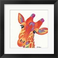 Framed Cheery Giraffe