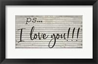 Framed PS  I Love You