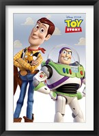 Framed Toy Story - Woody and Buzz