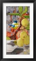 Framed Chickadee with Bonsai