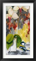 Framed Chickadee with Orchid