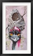 Framed Emu with Hornet's Nest