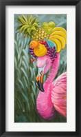 Framed Flamingo with Fruit Baskets