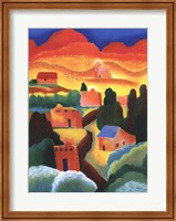 Framed New Mexico Village