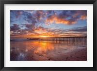 Framed Cement Ship Sunset