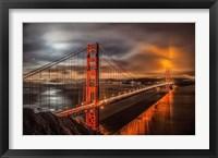 Framed Golden Gate Evening