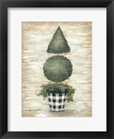Framed Gingham Topiary Cone