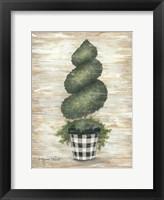 Framed Gingham Topiary Spiral