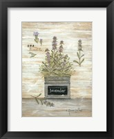 Framed Lavender Botanical
