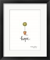 Framed Little Hope Topiary