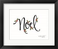 Framed Noel with Berries