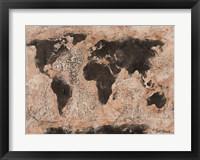 Framed Old World Map