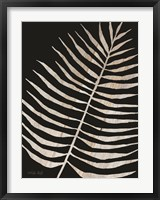 Framed Palm Frond Wood Grain I