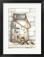 Framed Glass Luminary Bless Our Home