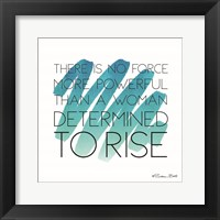 Framed Determined to Rise