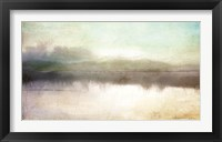 Framed Soft Lake Landscape