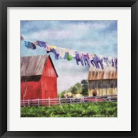 Framed Clothesline Farm