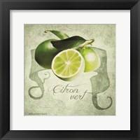 Framed Vintage Limes Citron