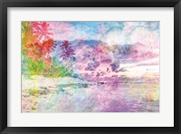 Framed Rainbow Bright Beach Scene