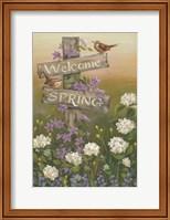 Framed Welcome Spring