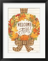 Framed Welcome Fall Wreath