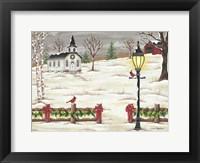 Framed Christmas Lamppost