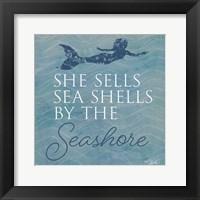 Framed She Sells Seashells