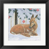 Framed Christmas Critters Bright VIII