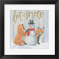 Framed Christmas Critters Bright III