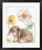 Framed Spring Softies Bunnies III Purple