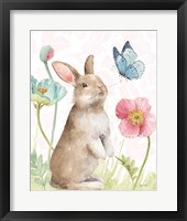 Framed Spring Softies Bunnies  II Pink