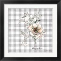 Framed Sketchbook Garden VII Checker Family