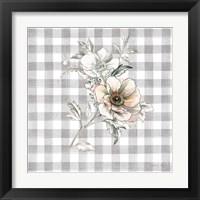 Framed Sketchbook Garden VII Checker