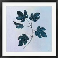 Framed Botanical Study III Blue