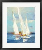 Framed Summer Regatta III Red Yellow