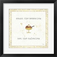 Framed Calorie Cuties VI Dot Border